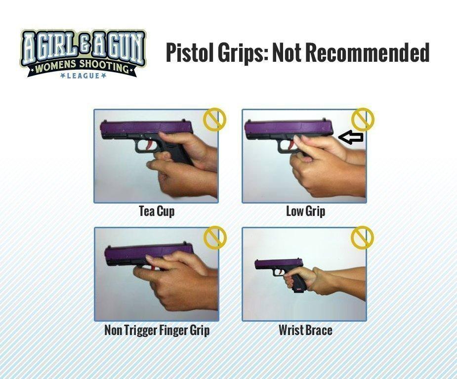 Target Pistol Grips Not Recommended Pistol Grips