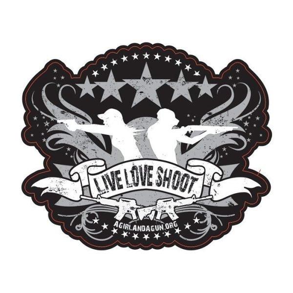 Live Love Shoot Sticker
