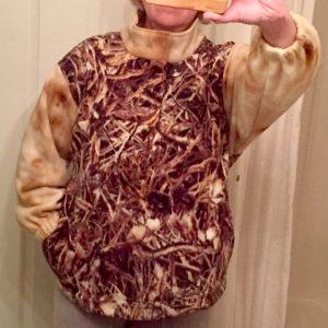 My bonus jacket from leftover fleece